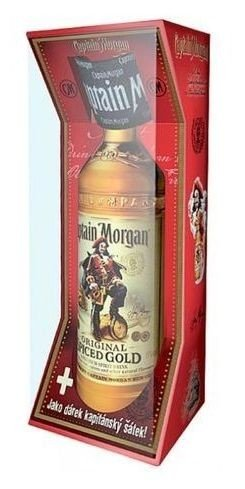 Captain Morgan Spiced Gold s šátkem  0.7l