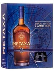 Metaxa 12* se dvěma skleničkama  0.7l
