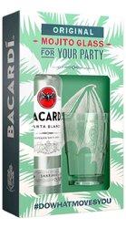 Bacardi Carta blanca se skleničkou  0.7l