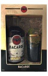 Bacardi Cuatro 4y dárková kazeta  0.7l