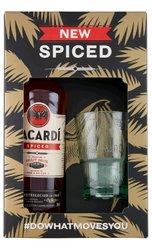 Bacardi Spiced se skleničkou  0.7l