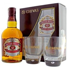 Chivas Regal 12y se skleničkama ed.13  0.7l