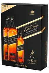 Johnnie Walker Black label dárková kazeta 2x1l