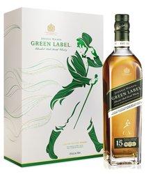 Johnnie Walker Green label 15y dárková kazeta  0.7l